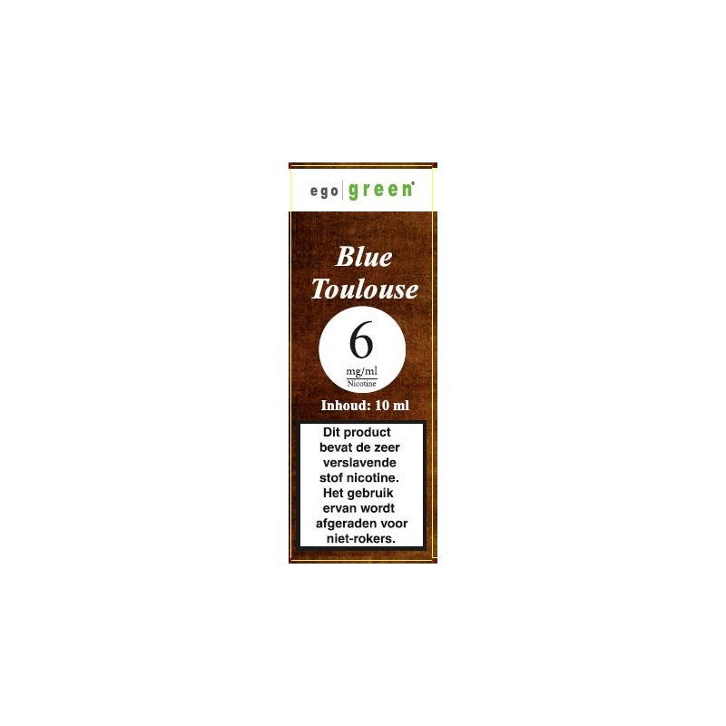 | Blue Toulouse tobacco Ego Green vloeistof voor e-sigaret